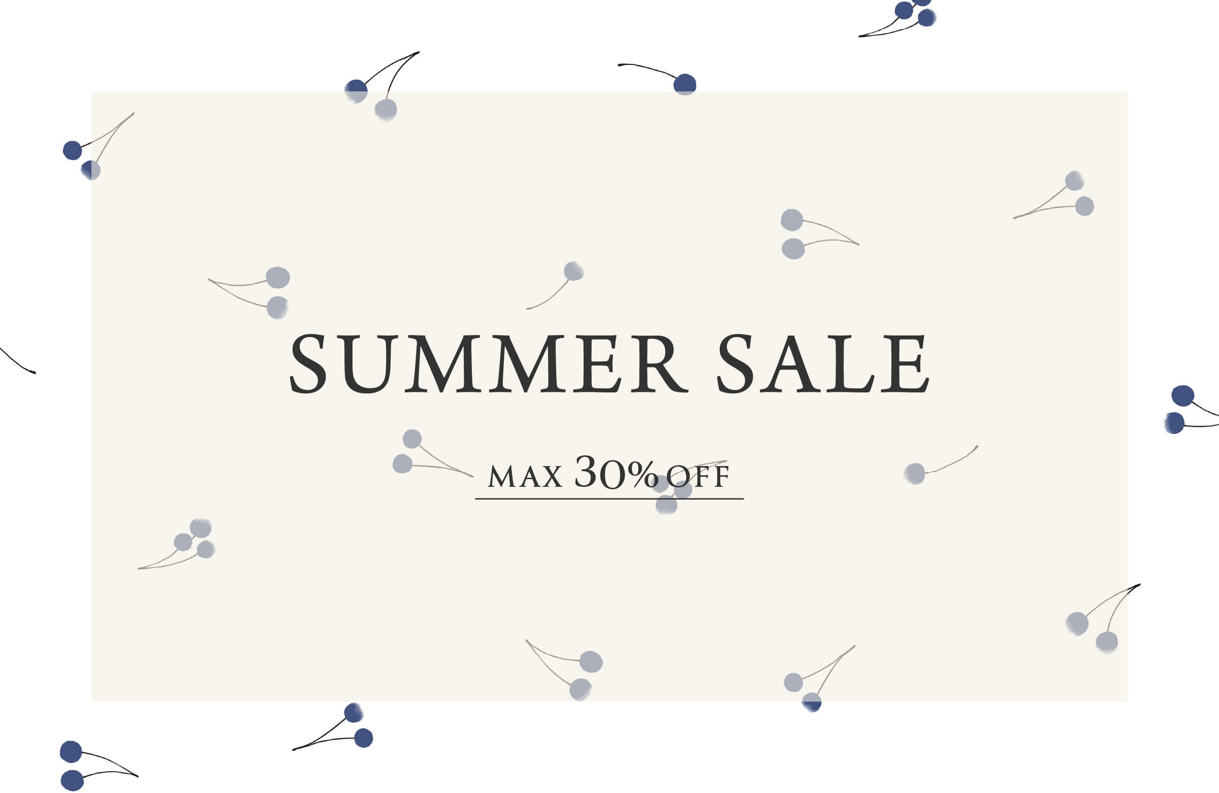 SUMMER SALE MAX50%OFF