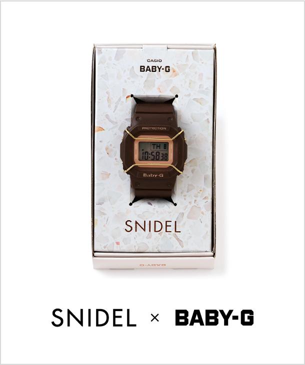 SNIDEL × BABY-G 昨年大人気で即完売した コラボレーションアイテムがリバイバル