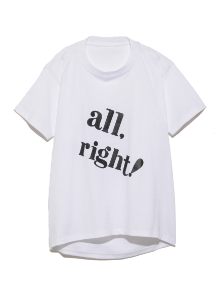【SNIDEL KIDS】ビッグロゴTシャツ(WHTxBLK-100)