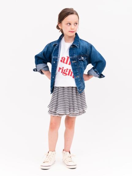 【SNIDEL KIDS】ビッグロゴTシャツ(WHTxRED-100)