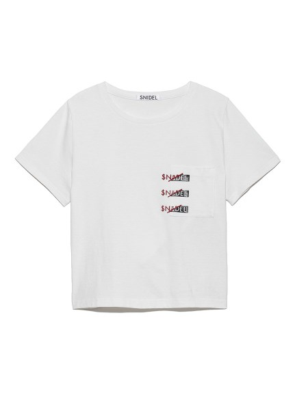 SNIDELロゴポケットTシャツ