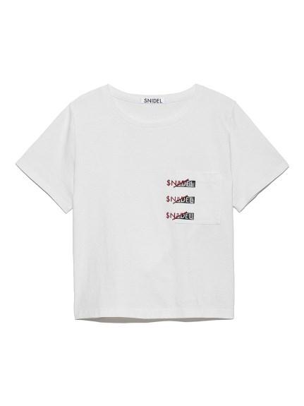 SNIDELロゴポケットTシャツ(WHT-F)