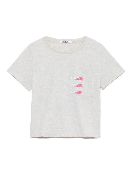 SNIDELロゴポケットTシャツ(GRY-F)