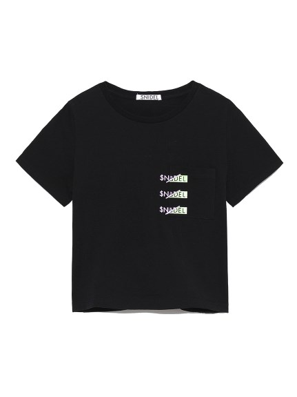 SNIDELロゴポケットTシャツ(BLK-F)