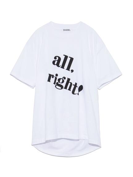 ビックロゴTシャツ(WHTxBLK-F)