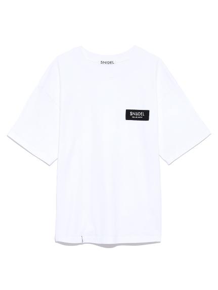 ロゴテープTシャツ(WHT-F)