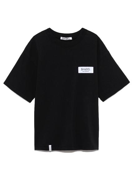 ロゴテープTシャツ(BLK-F)