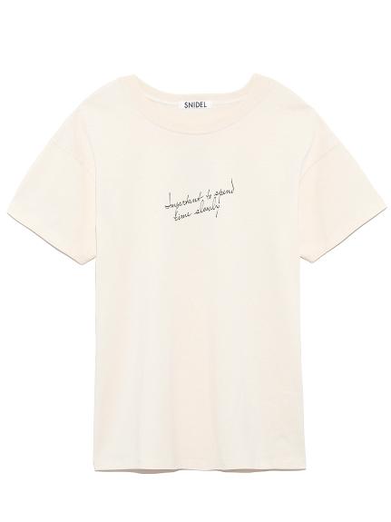 ドローイングロゴTシャツ(OWHT-F)