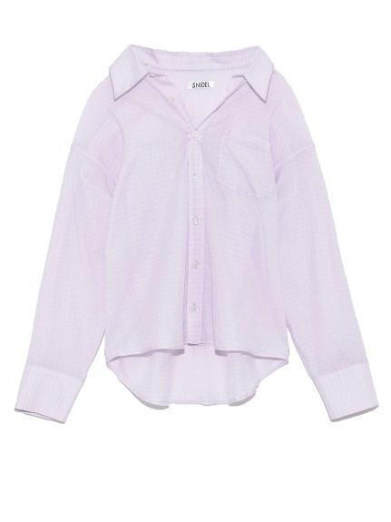 シンプルコットンシャツ(LAV-F)