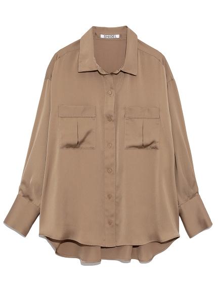 ミリタリーサテンシャツ
