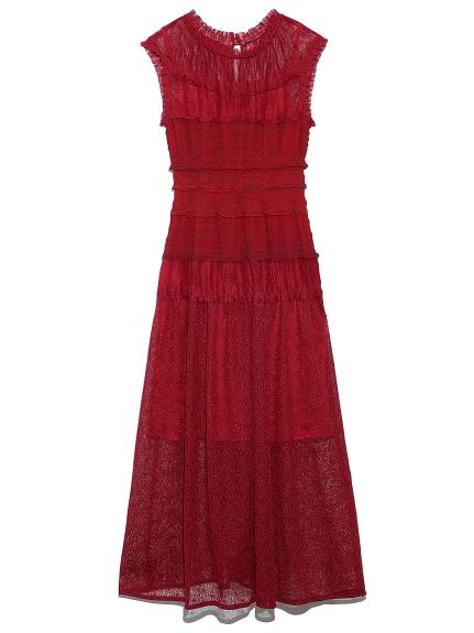 ミックスプリーツドレス(RED-0)