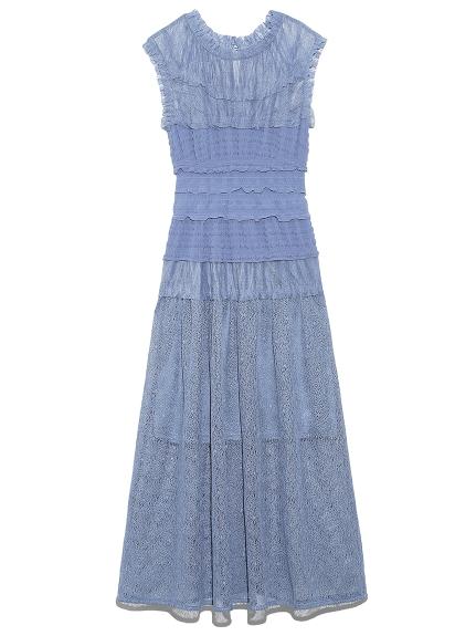 ミックスプリーツドレス(LBLU-0)