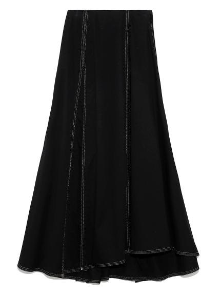ミリタリーフレアスカート(BLK-0)