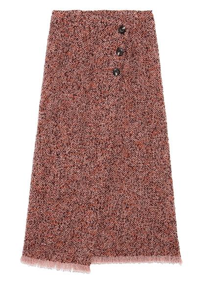 ロービングヘリンボーンスカート