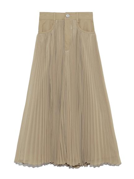 ウエストスウィッチプリーツスカート(BEG-0)