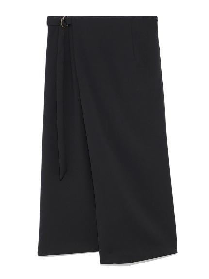 タイトミドルラップスカート(BLK-0)