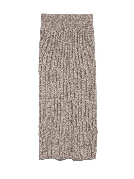 メランジニットスカート(BEG-F)