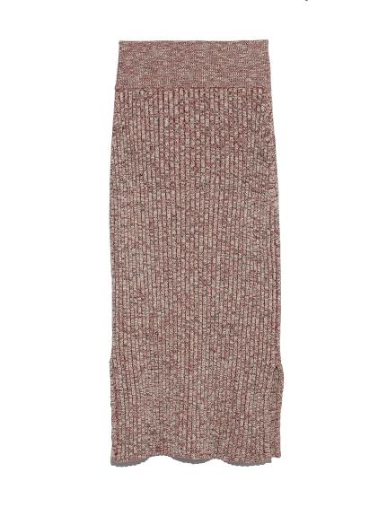 メランジニットスカート(RED-F)