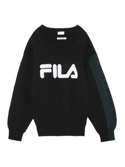 FILAロゴニットプルオーバー(BLK-F)