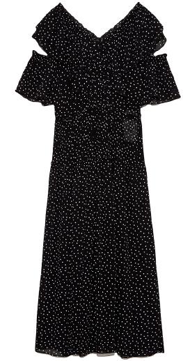 Dot Blocking Dress