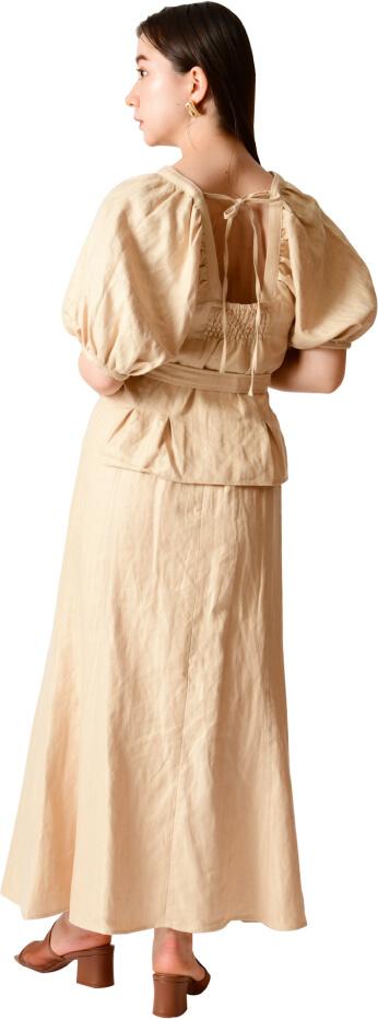 Linen puff sleeve tops