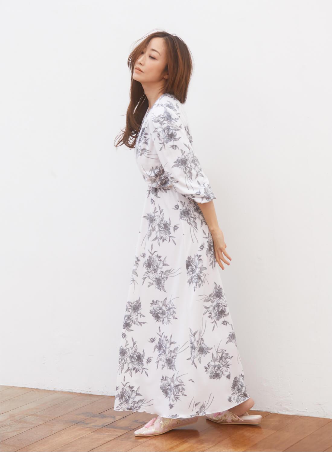 Dress 9,900yen , Room Shoes 4,950yen